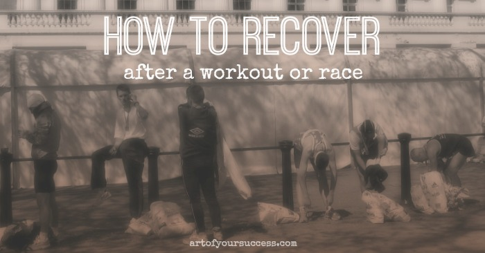 Recovery after sport, recovery after workout, run recovery, race recovery