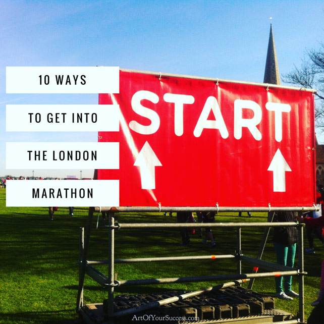 How to get into London Marathon