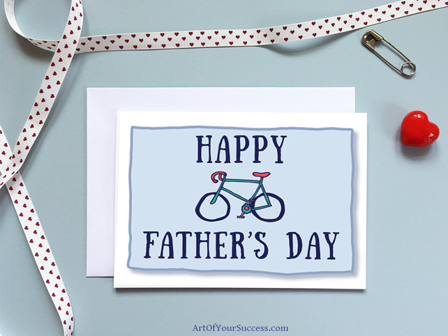 Happy Father's Day Bicycle Card