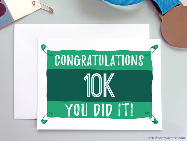 10k Congratulations card for runner