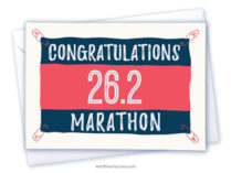 Congratulations Marathon Card